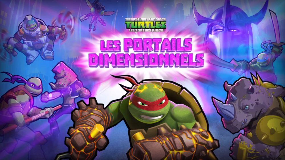 les tortues ninja les portails dimensionnels sur iphone et ipad