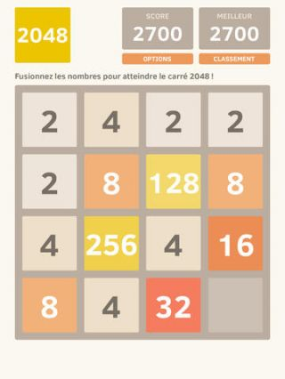 2048 sur iPhone, iPad et Android