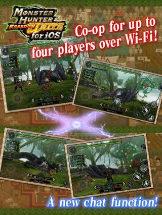Monster Hunter Freedom Unite de Capcom sur iPhone et iPad