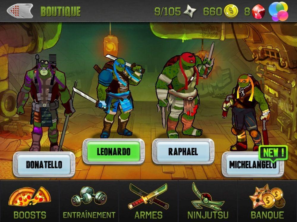Ninja turtles test jeu iphone et ipad sur - Tortue ninja couleur ...