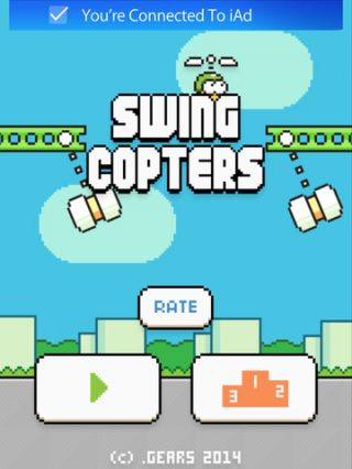 Swing Copters sur iPhone et iPad